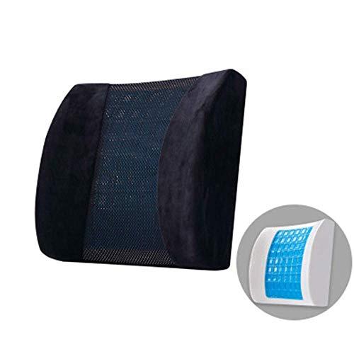 BBGSFDC Cojín de Respaldo de la Almohada de Soporte Lumbar para Silla de Oficina con Espuma de Memoria y Alivio de Malla Dolor de Espalda Baja para sofá de automóvil, a (Color : A)