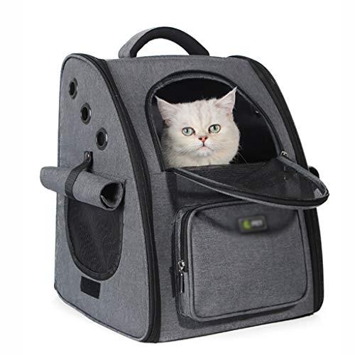 Transportin Gato Mochila hombros mascota portador del perro del bolso del gato Pequeña Mediana plegable de la correa de acoplamiento respirable portable plegable múltiples colores Gatos Accesorios
