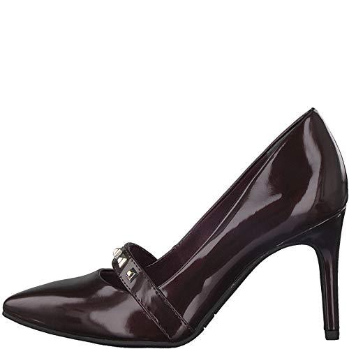 Tamaris Lack Pumps 1-24440-39 Nieten Riemchen High Heels Stiletto, Größe:36 EU, Farbe:Rot