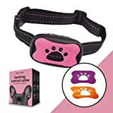 Paws and Claws 3 In 1 Anti Barking Dog Collars to Stop Excessive Dog Barking for Any Breed and Dog Sizes 15lbs To 150lbs (Pink, Purple and Orange)