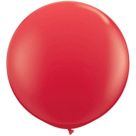 "Qualatex 42554 Red Latex Balloons, 36"", Red, Pack of 2"