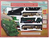 Traditional Railway Train Set - Battery Powered. Complete With Coal Truck, Passenger Carriages, Station,...