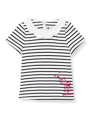Petit Bateau A008N01 Blusas, Marshmallow/Smoking, 24 Meses para Bebés