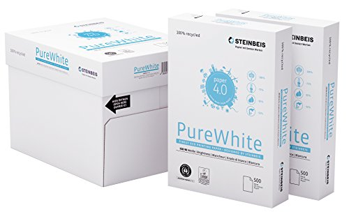 Steinbeis PureWhite DIN A3 - 5 x 500 Blatt - weiß - Multifunktionspapier - 80 g / m², C1601555080B, weiß