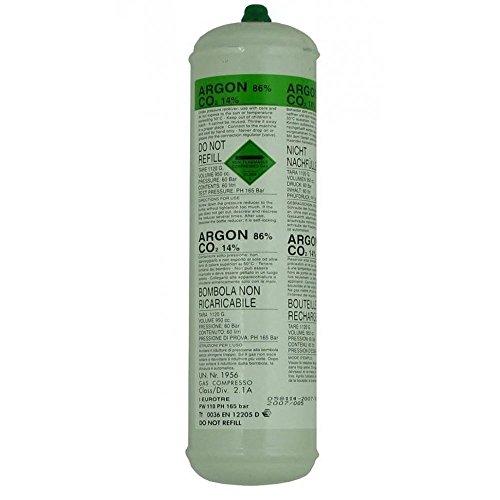 SWP Argon 1368 - Botella de Gas desechable de CO2 (60 L)
