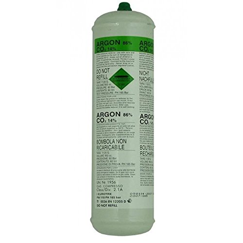 SWP Argon 1368 - Botella de Gas desechable de CO2 (60 L)
