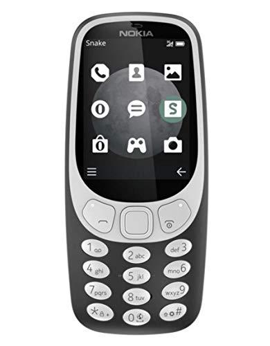 Nokia 3310 3G Mobiltelefon (2,4 Zoll Farbdisplay, 2MP Kamera, Bluetooth, Radio, MP3 Player, Dual Sim) charcoal