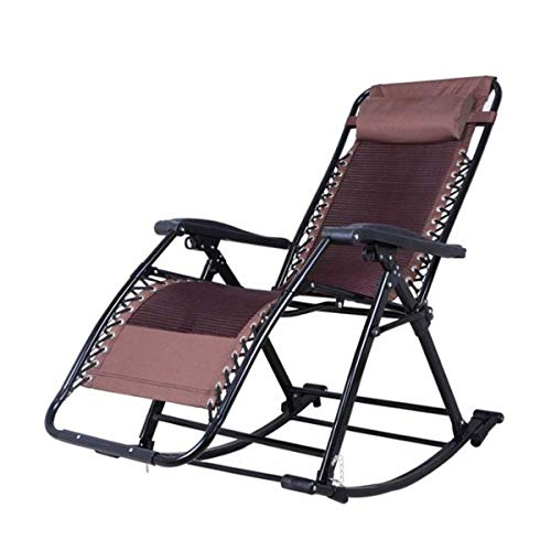NSYNSY Sun Lounger Foldable Garden Chairs Sunlounger,Loungers Rocking Chair,Elderly Folding Siesta Sunloungers With Adjustable Footrest And Reclining Back Folding Recliners Chair Folding Recliner B