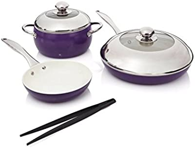 Lorena Garcia 6-Piece Gourmet Chic Lightweight Cook Set with Technolon+
