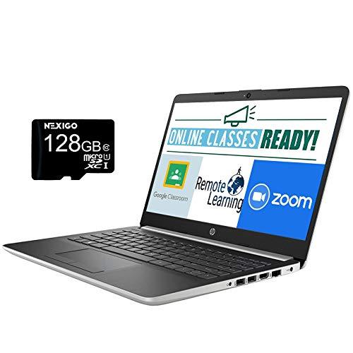 2020 HP Chromebook 14 Inch Laptop, FHD 1080P Display, Intel Pentium N5000 up to 2.7GHz| 4GB RAM| 64GB EMM| Windows 10 S (1 Year Office 365 Personal Included) + NexiGo 128GB MicroSD Card Bundle