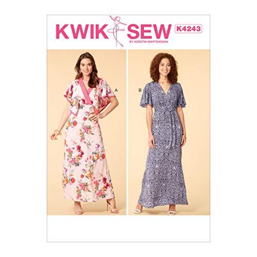 KWIK-SEW PATTERNS Kwik Women's V-Neck Dress Sewing Patterns by Kerstin Martensson, Sizes XS-XL