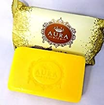 Aura Rich Honey Gold Soap 80 g. Bright And White natural by jawnoy