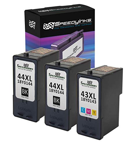 Speedy Inks Remanufactured Ink Cartridge Replacement for Lexmark 44XL & Lexmark 43XL High Yield (2 Black, 1 Color, 5-Pack)
