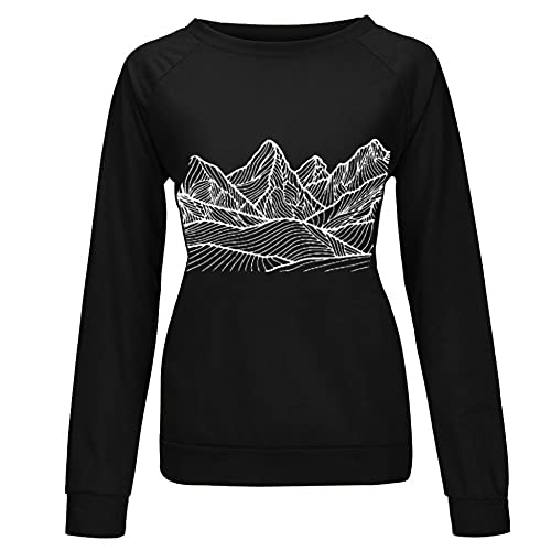 Sudaderas de mujer Cuello redondo Camisetas de manga larga Loose Streetwear
