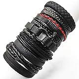 EMOHKCAB Pulseras 10pcs / Set Wrap Woven Fashion Handmade Men Bracelets Women Leather Bracelet Men Bangle Wholesale Jewelry Gift, Estilo 6