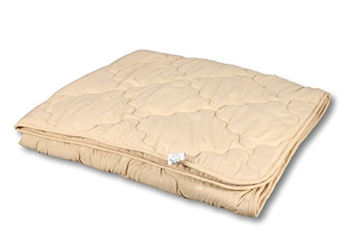 Sahara-Eco Camel Wool Comforter, Lightweighn, Quilted (55''x81'')
