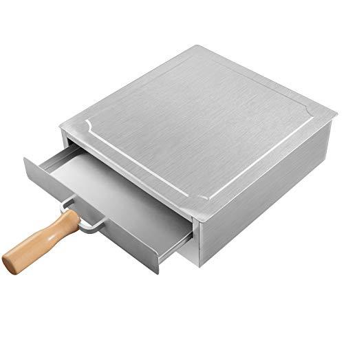 YEXIMEE Reis-Nudel-Rollen-Maschine, 430 Edelstahl gedämpfte Vermicelli-Roll-Dampfgarer, 1-lagige Lebensmittel-Dampfgarer, Kantonesische Küche Haushalt Kochgeschirr