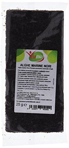 Vivimio Nori in Fogli Alghe per Sushi - 25 gr (Confezione da 6 pezzi)