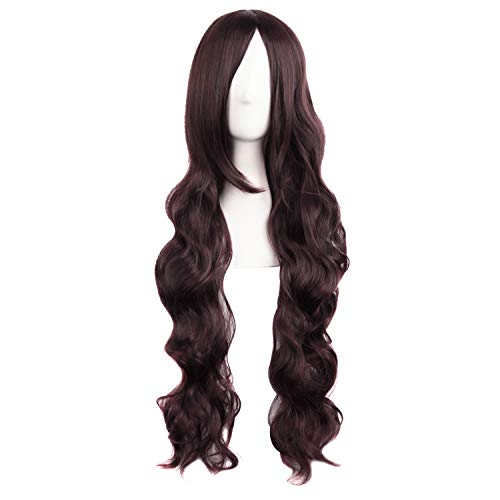MapofBeauty 32 Inches/80cm Long Hair Spiral Curly Cosplay Costume Wig(Dark Brown)