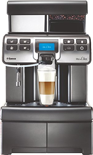 Saeco Aulika HSC V2 Blk Top High Speed Cappuccino Kaffevollautomat, Kunststoff, 4 liters, Schwarz