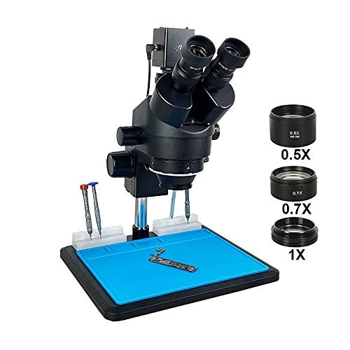 WUYUESUN HDMI HD VGA Trinocular Microscopio estéreo SIMUL-Focal IMX307 1080P Cámara Digital Teléfono PCB Soldadura Reparación Laboratorio Industrial (Color : C Package)