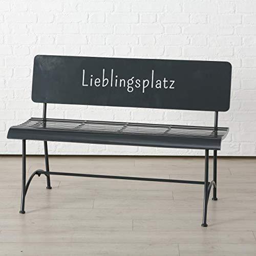 Bank Lieblingsplatz L115cm grau Eisen