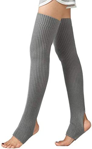 CHUNG Women s Over Knee Thigh High Warm Leg Warmers Stirrup Thermal 80s Long Socks Yoga Ballet product image