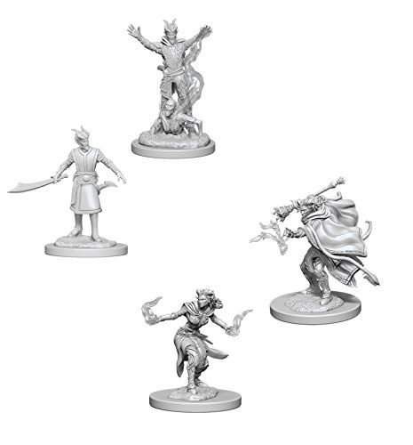 Dungeons & Dragons Nolzur's Marvelous Unpainted Miniatures Bundle: Tiefling Male Warlock & Tiefling Female Warlock