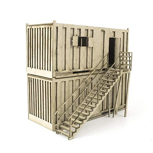 War World Scenics – Oficina Modular y Aseo Portátil (Elige Set) - Accesorios Modelismo Ferroviario, Diorama, Maqueta, Decorado Miniatura, Diseños Arquitectura