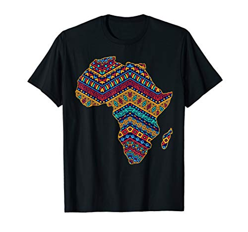 African Ethnic Traditional Pattern Map Design T-Shirt