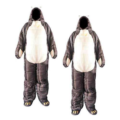P Prettyia 2 Unidades Saco de Dormir Portátil, con un Diseño Único de la Forma del Cuerpo Humano, Cómodo, Conveniente, Mantener el Calor