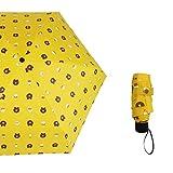 SFSGH Mini Paraguas de Bolsillo de Dibujos Animados súper Ligero, Paraguas Plegable para Viajes, Actividades al Aire Libre, Publicidad Comercial, patrón de Oso pequeño, Paraguas de prote