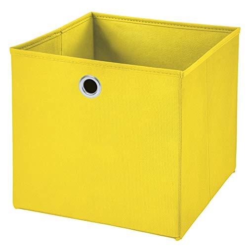 Stick&Shine 1x Aufbewahrungs Korb Gelb Faltbox 32 x 32 x 32 cm Regalkorb faltbar