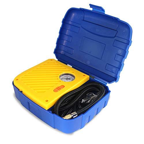 Nologo HD-DH Auto-Reifen-Inflator, Luftkompressor Luftpumpe, Auto-Abschaltung, Reifendruck, integrierte Reifenventil Manometer for Auto-Fahrrad-Reifen, Adapter inklusive