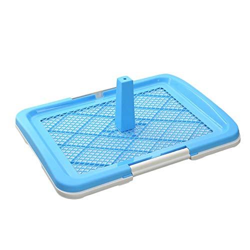 Zoueroih Katzentoilette Tragbare Toilette, hygienisch für den Innenbereich, mit PIPI-Stütze für Hunde und Haustiere, kompakt (Color : Blue, Size : 63x48.5cm)