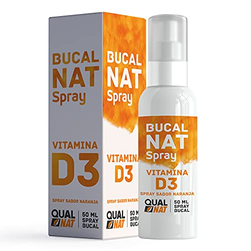 Spray Bucal 50ml Spray Mal Aliento  Spray de uso diario para un aliento fresco y duradero  Vitamina D3  QUALNAT