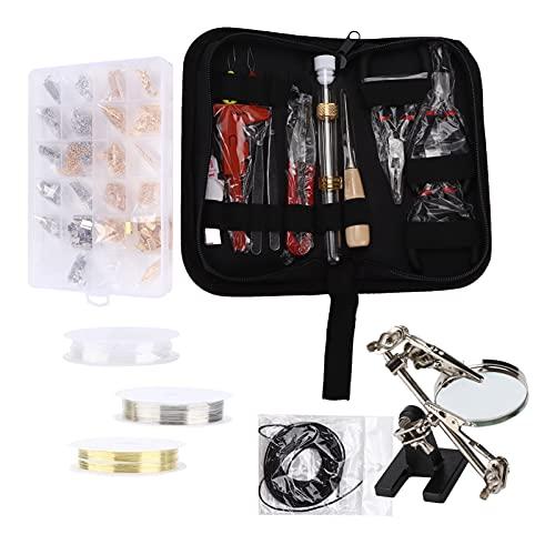 Juego de fabricación de joyas, suministros para hacer pendientes, práctico portátil para uso profesional para la fabricación de joyas para la reparación de cuentas