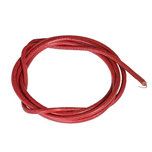 Naaimachine riem lederen band lederen aandrijfriem voor naaimachine Ø5mm 1,8 meter, incl. haak voor Singer, Brother, AEG.