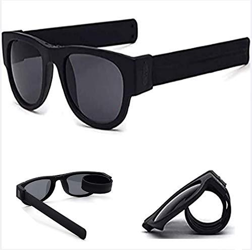 HFSKJWI Gafas De Sol Deportivas Plegables Slapsee,Gafas De Sol Prácticas,Gafas De Conducción,Gafas De Sol con Gafas De Sol para Adultos Y Niños Adecuadas para Cualquier Forma De Cara