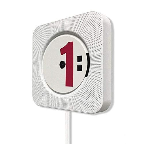 Adesign Reproductor de CD Bluetooth, Reproductor de CD portátiles de CD de Pared, Reproductor de música MP3 USB Radio USB para niños y automóviles, Control Remoto