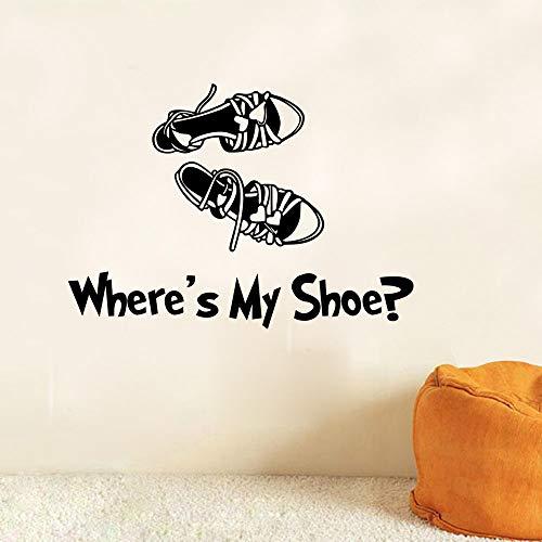 JXFM sandalen schoenenkast wanddecoratie etiket 43 x 38 cm