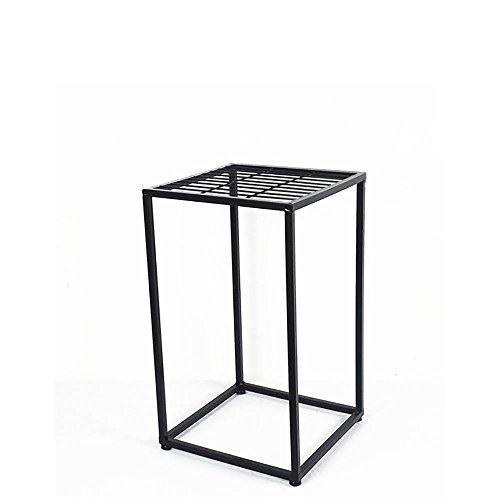 LLLXUHA Art de Fer Noir Deux étages métal Support de Fleurs, intérieur Salon Type de Plancher Cadre de bonsaï, Balcon Succulentes Présentoir, Black, 30 * 30 * 50cm