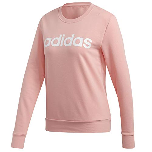 adidas Essentials Linear Sweatshirt Sudadera, Mujer, Rosa(Glow Pink/White), S