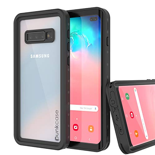 PunkCase S10 Plus Waterproof Case [StudStar Series] [Slim Fit] [IP68 Certified] [Shockproof] [Dirt Proof] Armor Cover W/Built in Screen Protector Compatible W/Samsung Galaxy S10 Plus [Clear]
