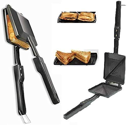 Wofier NewQ Silver Touch Non-Stick Aluminium Gas Toaster Cum Sandwich Maker (Black)