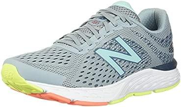 New Balance Women's 680v6 Cushioning Running Shoe, Light Slate/Stone Blue/Bali Blue, 9 B US