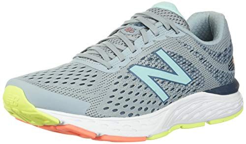 New Balance Women's 680 V6 Running Shoe, Light Slate/Stone Blue/Bali Blue, 8.5 M US