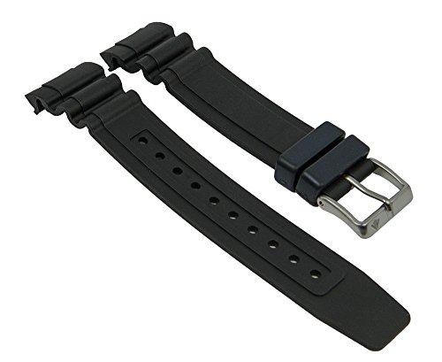 Ersatzband Uhrenarmband Kunststoff Gummi Band schwarz passend zu Citizen Promaster Taucheruhr BN0100 28140