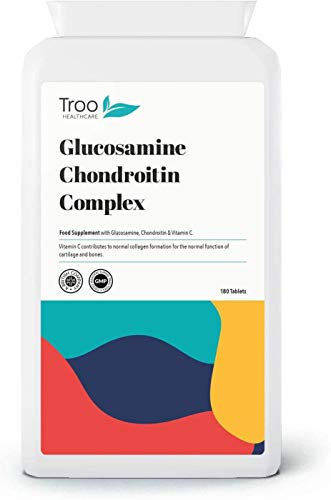 Glucosamine Chondrotin Complex with Vitamin C - 180 Tablets | UK Manufactured Supplement to GMP Standards