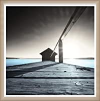 ポスター アーティスト不明 Old Boathouse 額装品 ウッドベーシックフレーム(オフホワイト)